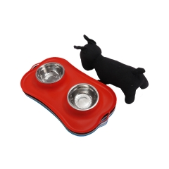 Silicone Pet bowl With Anti-Skid Mat